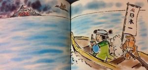 Momotaro menuju Pulau Oniga