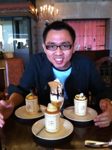 Ivan Prakasa at Shiroi Koibito Chocolate Factory