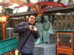 Tokubei and Ohatsu Statue