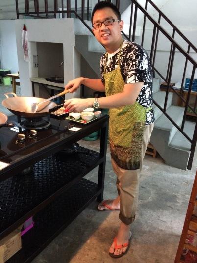 Ivan cooking in Thailand